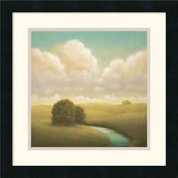 Amanti Art - Yesterday's Spring Framed Print by Donna McGinnis - Light and airy, this peaceful landscape invokes the tranquility of nature wherever you need a gentle lift. This would be ideal in your office waiting room to calm the nerves of anxious clients, but it  works wonders in the kitchen or sunroom, too.