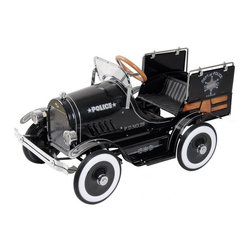 Dexton - Dexton Police Pick Up Roadster Pedal Riding Toy Multicolor - DX-20334 - Shop for Tricycles and Riding Toys from Hayneedle.com! Don't upset your children or they're likely to put you under arrest and take you back to the '30s in the back of the Dexton Police Pick Up Roadster Pedal Car Riding Toy. From the seat of this all-metal pedal-powered replica police car your children will protect and serve when they're not too busy enjoying the working headlights opening tailgate and adjustable windshield. This ride-on is recommended for children from ages 3 to 6 with a maximum weight of 66 lbs. About DextonDexton has been manufacturing distinguished high-quality children's musical instruments and ride-ons for over 10 years. Located in the Orange County area of Southern California its factories produce 50 of the most popular musical instruments to professional standards that music teachers prefer. Dexton also produces a wide assortment of battery-powered and pedal car ride-ons as well as children's furniture. Dexton uses the highest-quality wood leather and chrome-plated steel when manufacturing its safe kid-friendly products.