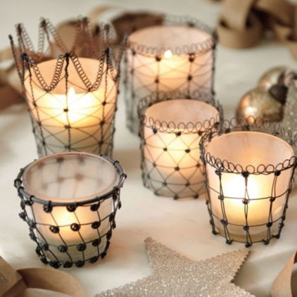 eclectic candles and candle holders by Ballard Designs