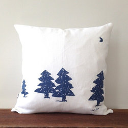 Trees Pillow Cover - The simple tree illustrations on this pillow are so charming. It would be adorable in a nursery or in an older child's bedroom, but it would be equally at home on the living room sofa, too.
