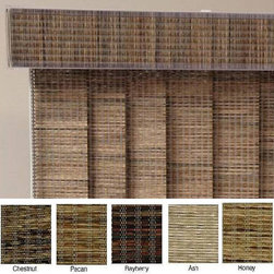 ZNL - Edinborough Fabric Vertical Blinds (82 in. W x Custom Length) - Bring earthy tones into your decor with these custom-made fabric vertical blinds from Edinborough. These blinds offer privacy and style and can be cut into three-inch increments to lengths between 30 and 99 inches long. Update your interior today.