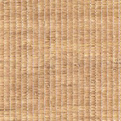 Li Wei Beige Grasscloth Wallpaper - A particularly exotic grasscloth weave, lending a chic thatched hut texture to walls or ceilings.