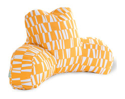 """Majestic Home - Outdoor Sticks Reading Pillow, Citrus, 33"""" L X 6"""" W X 18"""" H - If you've ever had one of these backrest pillows, you know there's nothing quite like them for sitting up comfortably in bed with your book or your breakfast. This one is not only particularly cute with its colorful modern print, but it's also treated for the outdoors so that you can use it out on the lawn or by the pool. And if you spill your coffee or cocktail, don't worry: The cover is removable for easy cleaning."""