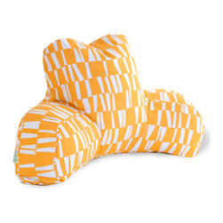"Majestic Home - Outdoor Sticks Reading Pillow, Citrus, 33"" L X 6"" W X 18"" H - If you've ever had one of these backrest pillows, you know there's nothing quite like them for sitting up comfortably in bed with your book or your breakfast. This one is not only particularly cute with its colorful modern print, but it's also treated for the outdoors so that you can use it out on the lawn or by the pool. And if you spill your coffee or cocktail, don't worry: The cover is removable for easy cleaning."