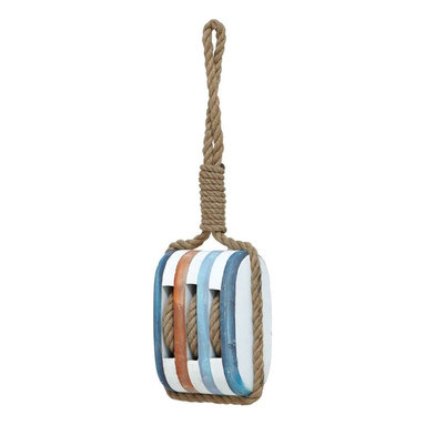 "Benzara - Wood Rope Nautical Decor with Fine Detail and Bright Color - Wood Rope Nautical Decor with Fine Detail and Bright Color. Create a central focal point in your living room with this 21""H wood rope nautical decor with fine detail and bright color. Made from high quality wood and resilient rope, this decorative piece will exude great delight to your living space. It comes with the following dimensions 7""W x 4""D x 21""H."