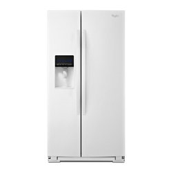 "Whirlpool - WRS537SIAW 36"" 27 cu. ft. Capacity Side-by-Side Refrigerator with FreshFlow Air - Get the most out of your freezer with the In-Door-Ice Plus ice dispensing system It creates 30 more usable space in the freezer and the bin tilts out or can be removed with one hand and placed on the counter to make filling glasses pitchers and coole..."