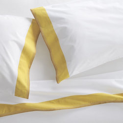 Miri Yellow Sheet Set - This bedding is so perfect with that great band of yellow.