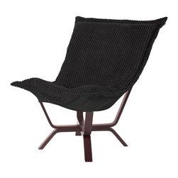 Howard Elliott - Howard Elliott Tempo Black Milan Puff Chair - Milan puff chair tempo black