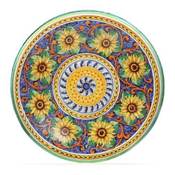 "Ceramic - Tuscan Spring Deep 22"" Decorative Plate - Tuscan Spring Deep 22"" Decorative Plate"