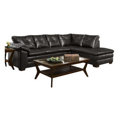 Chelsea Home Furniture - Chelsea Home Epsilon 2-Piece Sectional in Freeport Black - Epsilon 2-Piece Sectional in Freeport black belongs to the Chelsea Home Furniture collection