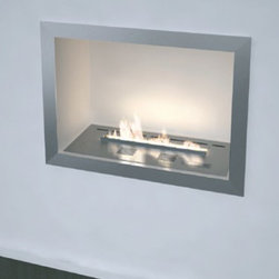 Planika 27'' x 19'' BASIC Casing FLAS Wall Mounted Fireplace - The Planika Casing for Fireline Automatic Slim is an optional casing for the Planika Fire Line Slim Fireplaces. The stainless steel construction and excellent craftsmanship makes for very simple installation. This casing is so safe it can be mounted into ANY wall construction.