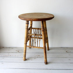 Bamboo Stool/Plant Stand/Table by Tinted Vintage - I love bamboo, and this little plant stand is practically made for a light-filled sunroom.