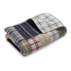 Nautica - Nautica Chatham Quilt - Give any bedroom that classic collegiate feel. Bedding has a variety of yarn dyed plaids in shades of reds, khakis and blues that bring color and style to your decor.