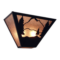 Steel Partners Inc - Tapered Sconce - TIMBER RIDGE - Every piece we create is unique — handcrafted at our factory in Chehalis, Washington, USA. Due to this, lead times are 2 to 4 weeks.