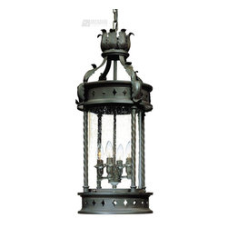 Troy Lighting - Troy Lighting Los Feliz Traditional Outdoor Hanging Lantern X-ZBO5369F - Clean finishes and unique details give a stylish look to this Troy Lighting outdoor hanging light. From the Los Feliz Collection, it features botanical accents and diamond cut-outs, all finished in a deep Old Bronze hue. A clear seeded glass shade and four candelabra style lights complete the look.