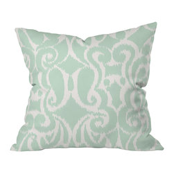 DENY Designs - Khristian A Howell Eloise Throw Pillow, 20x20x6 - A curvy, fresh ikat pattern on woven polyester adds the perfect pop of color and pattern and blends with just about any decorating style. Grab a few.