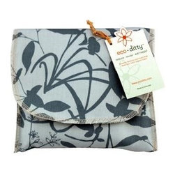 Eco Ditty Sandwich Bag - Whispering Grass Aqua - eco ditty is the perfect sandwich bag. Made from 100% organic cotton they are easily adjustable to handle all types of sandwiches.