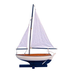 "Handcrafted Model Ships - Sunset Sailboat 17"" - Wooden Sailboat Centerpiece - Not a model ship kit... Attach. Sails and the Stars and Stripes model yacht is Ready for Immediate Display. Brighten your day, or any room of your home, with this delightfully fun Sunset Sailboat model. Perfect nautical decor gifts for friends, children, or party guests, they also make excellent nautical decorations or sailboat centerpieces for a reception or group event. Liven your office, beach house, or sunroom with one of these colorful sailboat models today!"