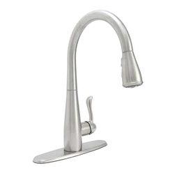 PREMIER - Premier 284453 Sanibel Lead-Free Single-Handle Pull-Down Kitchen Faucet - Features: