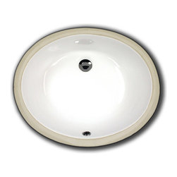 """TCS Home Supplies - Porcelain Ceramic Vanity Undermount Bathroom Vessel Sink - 19-1/2 x 15-3/4 x 6 I - Undermount Bathroom Vessel Sink. Porcelain Ceramic. Available in White, Biscuit, and Black. Overall Dimensions 19-1/2"""" x 15-3/4"""" x 6""""."""