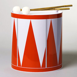 "Trumma Drum, Red - The Trumma drum acts both a fun toy and a fun ""decor item"" to sit in a bookcase. Doesn't it have a great design?"