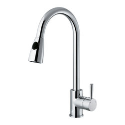 VIGO Industries - VIGO Chrome Pull-Out Spray Kitchen Faucet - Add flair to your kitchen with this stylish yet durable VIGO faucet