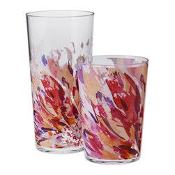Room Essentials Floral Drinkware, Red, Set of 8 - These tumblers are part of a gorgeous dinnerware set. The rest of the collection looks just as good!