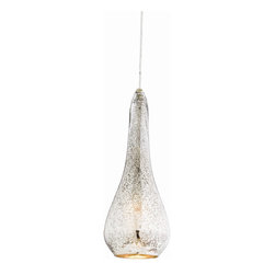 Arteriors - Arianna Large Pendant - Cast the sort of glow guaranteed to improve your mood. This elegantly shaped teardrop, made of translucent antique mercury glass, provides ambient light. Hang it solo or cluster with others for an illuminating arrangement in your contemporary space.