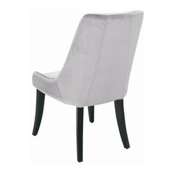 """Sunpan Modern - San Diego Parsons Chair (Set of 2) - Features: -Material: Faux velvet. -Frame: Kiln dried solid wood. -Leg finish: Matte black. -Beautifully sculpted dining chair can also be used as an occasional chair. -Giving it a dramatic lounge look. -Sits amazingly well. -Seat height: 19"""". -Please note that although every attempt has been made to ensure accuracy, all dimensions are approximate and colors may vary. -Please note that the leg color on Sunpan dining chairs does not always match the dining table color. -This item is deemed acceptable for both residential and nonresidential environments such as restaurants, hotels, lounges, offices and reception areas. Please note that this item carries the manufacturer's standard ONE YEAR WARRANTY from the date of purchase. Please contact Wayfair customer service or sales representatives for further information."""