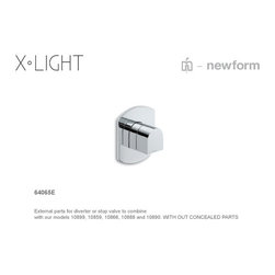 X- Light Faucets and Fixtures by Newform - X-Light Pressure Valve