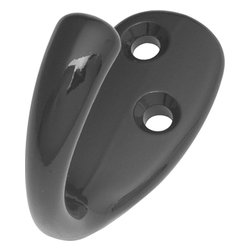 """Hickory Hardware - Utility Black Hook, 2"""" - Functionalism is the principal that design is based on the purpose of that piece. Hinges, hooks, catches, drawer slides and screws. All designed for a specific purpose and necessary in every home."""
