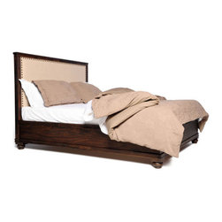 Dark Brown The City Queen Size Bed - This dark brown queen size bed by Zuo Modern has an acacia veneer finish and is from their The City collection. It's the perfect queen size bed to compliment any bedroom!