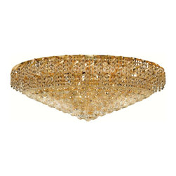 Elegant Lighting - Elegant Lighting ECA1F36 Belenus 28 Lights Flush Mount - Featuring a graceful multi-tiered design and a cascading crystal body, these brilliant Belenus chandeliers bring decorative drama to any room setting.