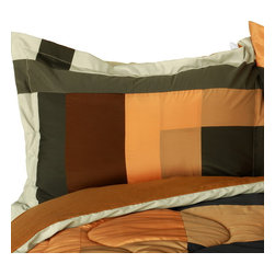 Blancho Bedding - Cassiel Quilted Patchwork Down Alternative Comforter Set  Full/Queen Size - The [Cassiel] Patchwork Comforter Set (Full/Queen Size) includes a quilted down alternative comforter and two shams. This luxury comforter set is handmade and some quilting may be slightly curved. The luxury handmade comforter set makes a stunning and warm gift for you and a loved one! For convenience, all bedding components are machine washable on cold in the gentle cycle and can be dried on low heat and will last for years. Elaborate vermicelli quilting provides a rich surface texture. This vermicelli-quilted comforter set will refresh your bedroom decor instantly, create a cozy and inviting atmosphere and is sure to transform the look of your bedroom or guest room. Enjoy a good night's sleep in this luxurious comforter set. (Dimensions: Full/Queen comforter: 90.5 inches x 90.5 inches; Standard sham: 24 inches x 33.8 inches)