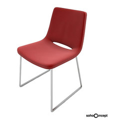 Soho Concept Nevada Flat Dining Chair Leather - Soho Concept Nevada Flat Dining Chair Leather