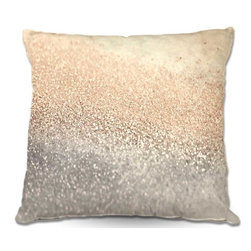 DiaNoche Designs - Pillow Linen - Monika Strigels Gatsby Gold I - Soft and silky to the touch, add a little texture and style to your decor with our Woven Linen throw pillows.. 100% smooth poly with cushy supportive pillow insert, zipped inside. Dye Sublimation printing adheres the ink to the material for long life and durability. Double Sided Print, Machine Washable, Product may vary slightly from image.