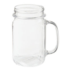 Clear Plastic Mason Drinking Jar