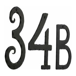 Smedbo - Smedbo Rustic House Numbers & Letters, Wrought Iron - Smedbo Rustic House Numbers & Letters, Wrought Iron