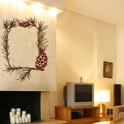 Christmas Pinecone Vinyl Wall Decal ChristmasPineconeUScolor004; 12 in. - Vinyl Wall Decals are an awesome way to bring a room to life!