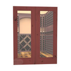 CellarSelect™ Wine Cellar Door: French Burgundy (Cherry Stain with Lacquer) - The French Burgundy double door creates an impressive entrance to your wine cellar. Features include insulated low-E glass and cope and stick joinery that will last a lifetime. This door's high R value means your cooling system will last longer and your power bills will be smaller. With five gorgeous color options, this door is sure to impress.