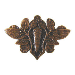 Arts & Crafts Style - Cicada Knob in Dark Solid Bronze from Notting Hill Decorative Hardware