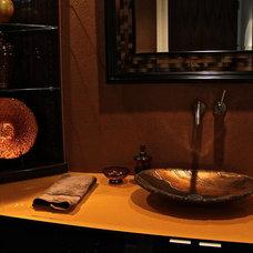 Contemporary Powder Room by FSI Design