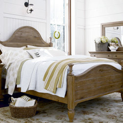 Universal Furniture - Paula Deen Down Home Poster Bed in Oatmeal - Is there anything more personal than a bedroom? It's the place you and your loved ones rest and relax every evening. The Paula Deen Poster Bed, by Universal Furniture, will create an aura of tranquility and relaxation in any bedroom. The uneven planking of the beautifully shaped headboard and footboard panels give this lovely four poster bed an air of coziness. A soft and airy oatmeal finish blankets the solid hardwood frame, providing a delicate touch to this well-built piece.