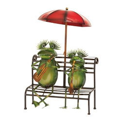 UMA Enterprises - UMA Enterprises Musical Frog Couple Seated on Bench Garden Sculpture - 69889 - Shop for Statues and Sculptures from Hayneedle.com! What a pair! The UMA Enterprises Musical Frog Couple Seated on Bench Garden Sculpture is a totally unique way to display your charm and love of music.