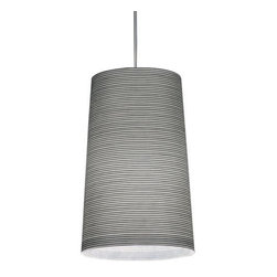 Foscarini - Tite 3 Pendant by Foscarini - Snappy stripes pair visual and textural excitement together for a look that is both fresh and relaxing. The Foscarini Tite 3 Pendant creates bright, diffused light via its fiberglass fabric shade. An award-winning design that combines the strength of Kevlar or Carbonium with a smooth, contemporary design. Designed by Marc Sadler, 2000. Foscarini, headquartered in Italy, offers superb contemporary lighting products in playful and inspiring designs. In partnership with both established designers and emerging designers, Foscarini has created an exciting collection of products for residential and commercial applications.