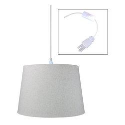 "Home Concept - 1-Light Plug-In Swag Pendant Lamp Sand Linen 13x16x11 - Plug In Swag Pendant - The perfect addition to any dark corner, or above a table that the builder didn't provide electrical wiring. You will love your swag pendant light because it can move anywhere and put the light exactly where you need it. Wondering about size?  Simply add the length and width of your space and that will give you the maximum bottom width of your pendant. If your swag is not centered in the room, you should likely use smaller measurements to define the ""space"" you are lighting up.      Why Upgrade to Home Concept Signature Pendants?       Top Quality Premium Lampshades means your room will glow with a rich, warm luster your guests will notice.  Plus we include upgrades like a premium inner lining and dual bulb clips so your new shade will last for years.      Heavy brass and steel frames mean you can feel the difference when you lift it."