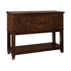 Standard Furniture - Standard Furniture Sonoma Sideboard in Oak - Simplistic dining in a rich finish that is casual and versatile. Quality veneers over wood products and select solids used throughout. Group may contain some plastic parts. Oak color finish. The casual look and feel of Sonoma will fit in easily with other styles in your home.