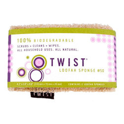 Twist - Twist Loofah Sponge - Whether you need the hard,scrubbing action of a plastic or copper scrubber or the sleek Cleaning power of a sponge, the Twist Loofah Sponge has got you covered. This two,in,one green Cleaning tool has two unique sides.