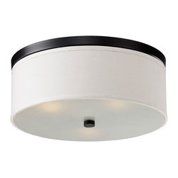 """IFN Modern - Toni Drum Pendant in Black - The Toni collection inspires modern lines perfect for any location. The Toni is finished in a white linen shade using the option trims of either black or nickel finish and closed at the bottom using a glass diffuser.â— Metal, Fabric, Glassâ— Black Finishâ— Incandescent 60 Watt Bulb (Not Included)â— 4lbsâ— 110 Voltsâ— 20"""" Cord"""