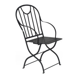 1902 ArmchairThis charming French chair has a vintage industrial Parisian flea m - This charming French chair has a vintage industrial Parisian flea market style, without all of that pesky rust. It's perfect for adding vintage modern style to your  porch, patio, or dining room.